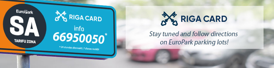 Pay for EuroPark parking in RIGA CARD app