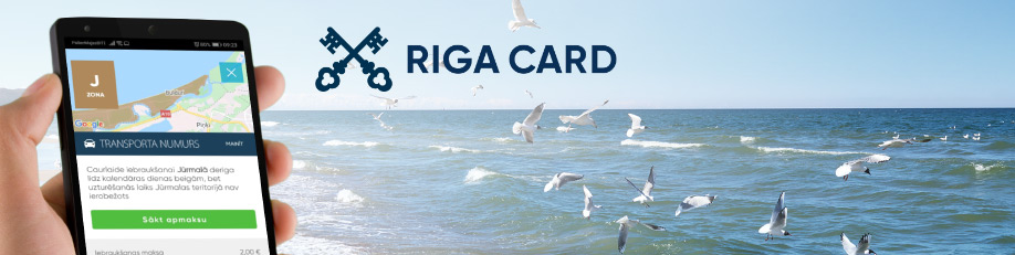 Pay for Jurmala entry fee in RIGA CARD app